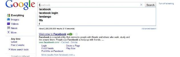 Google Predictive Search