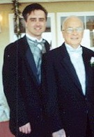 My Dad & I at my sister's wedding in 2000.
